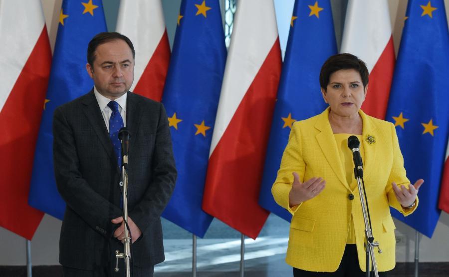 Beata Szydło i Konrad Szymański