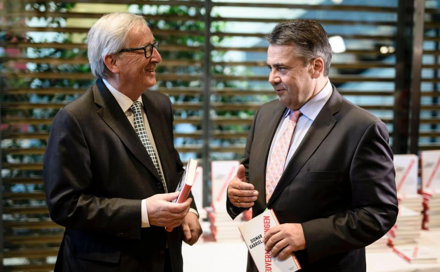 Jean-Claude Juncker i Sigmar Gabriel