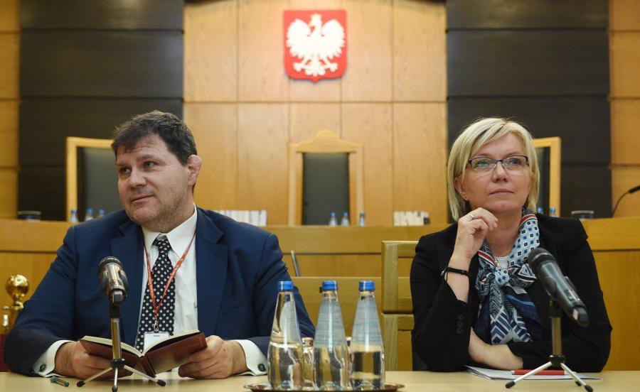 Prezes Trybunału Konstytucyjnego Julia Przyłębska oraz sędzia TK Mariusz Muszyński
