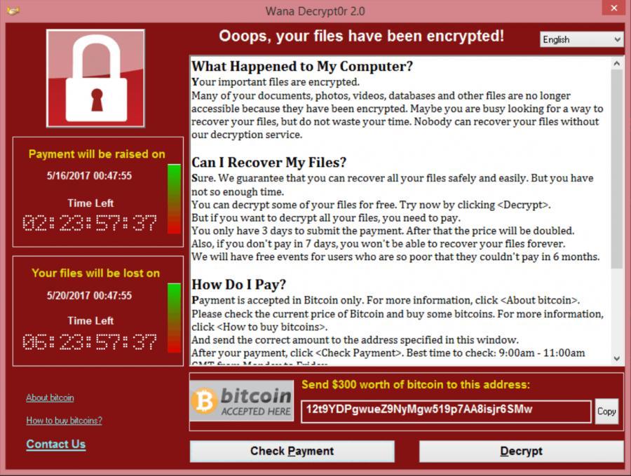 Wiadomość, którą dostali posiadacze komputerów zaatakowanych przez WannaCry