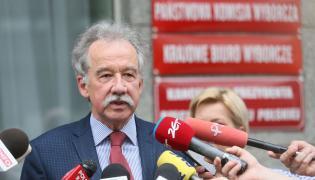 Przewodniczący Państwowej Komisji Wyborczej sędzia Wojciech Hermeliński