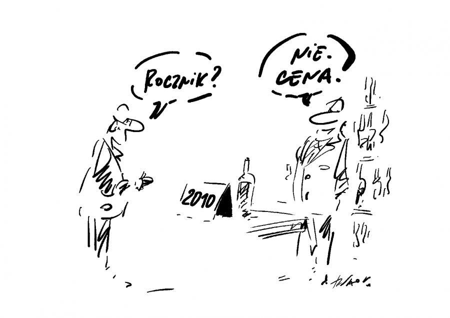 Wino / rys. Henryk Sawka