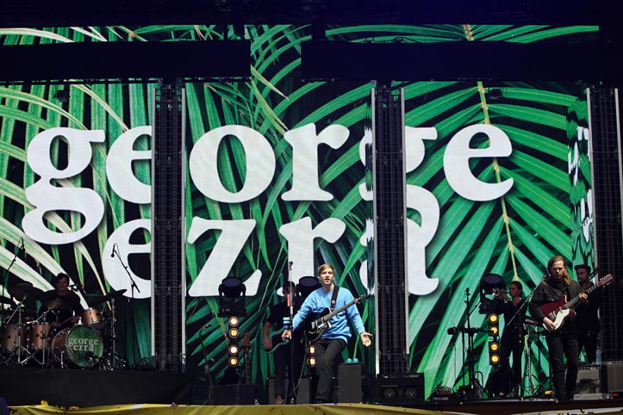 Geogre Ezra na festiwalu Open'er 2017. 01.07.2017.