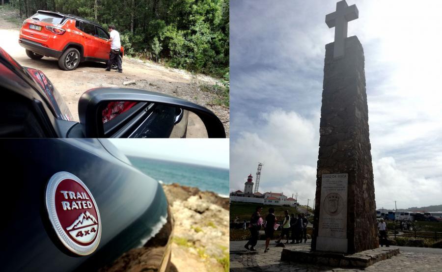 Jeep Compass Trailhawk na przylądku Cabo da Roca, czyli najdalszym krańcu Europy