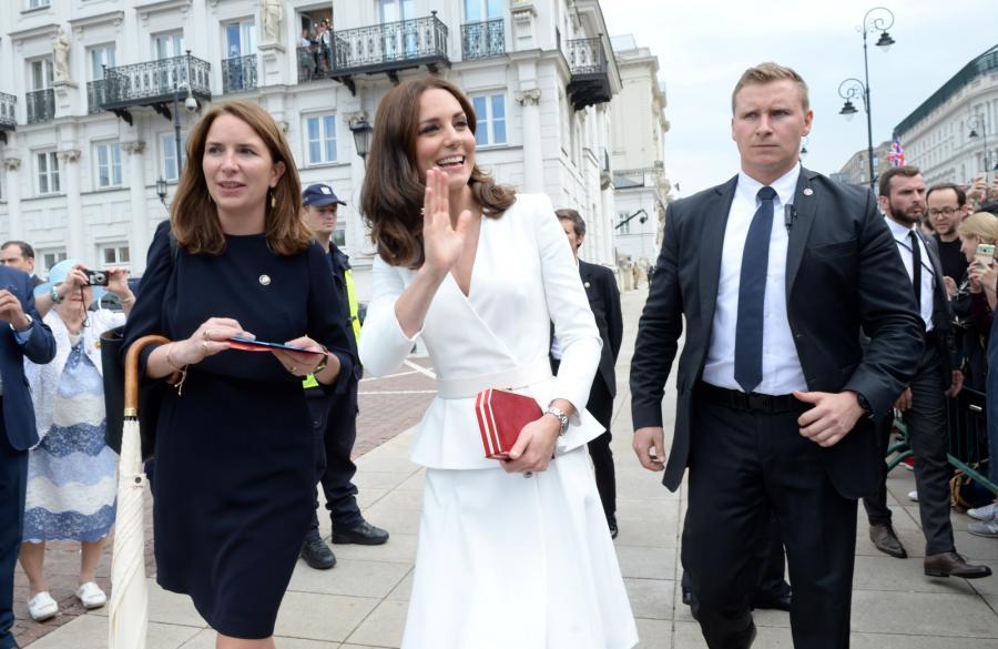 Księżna Kate na Krakowskim Przedmieściu w Warszawie