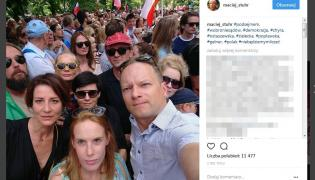 Protest pod Sejmem / zdjęcie z profilu Macieja Stuhra