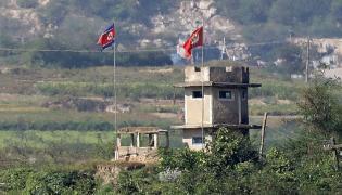 Północnokoreański posterunek wojskowy
