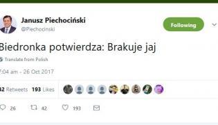 Twitt Janusza Piechocińskiego