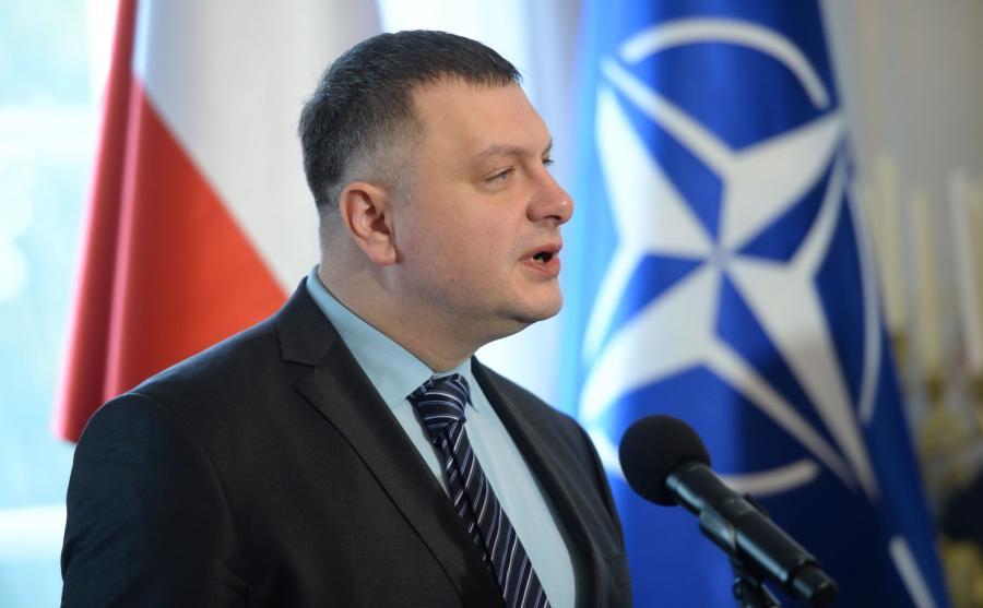Zastępca sekretarza Rady Bezpieczeństwa Narodowego i Obrony Ukrainy Ołeksandr Litwinienko podczas inauguracji Platformy NATO-Ukraina