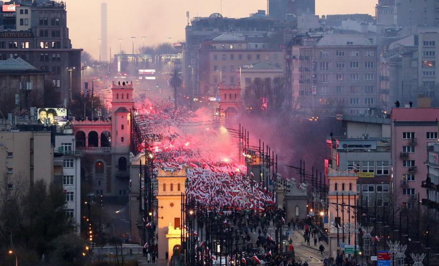 Marsz Niepodegłości w Warszawie