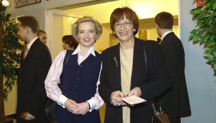 Monika Zamachowska, wtedy jeszcze Richardson, i Barbara Trzeciak-Pietkiewicz w 2003 r.