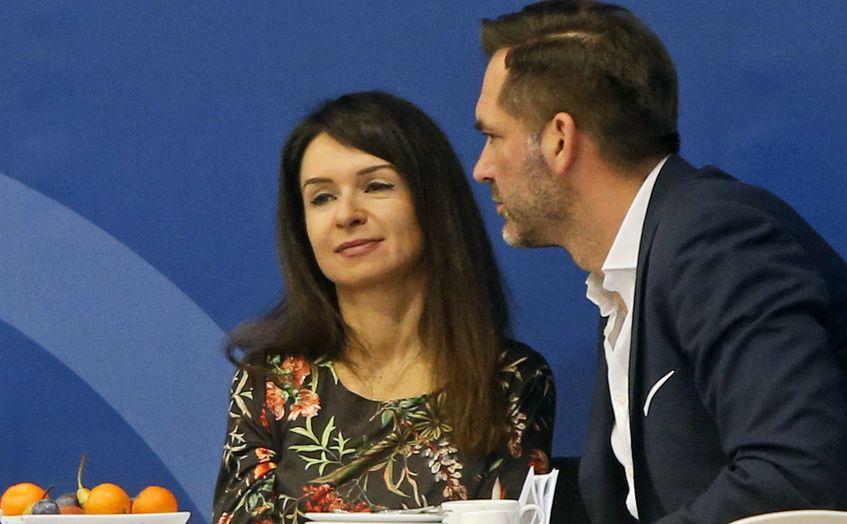 Marta Kaczyńska i Piotr Zieliński na na zawodach jeździeckich Cavaliada