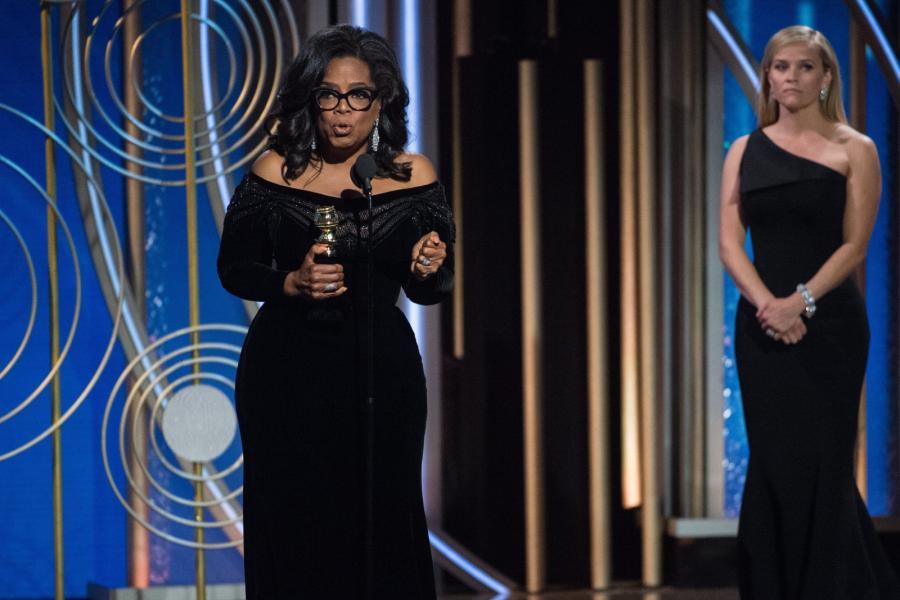 Oprah Winfrey na 75.gali wręczenia Złotych Globów