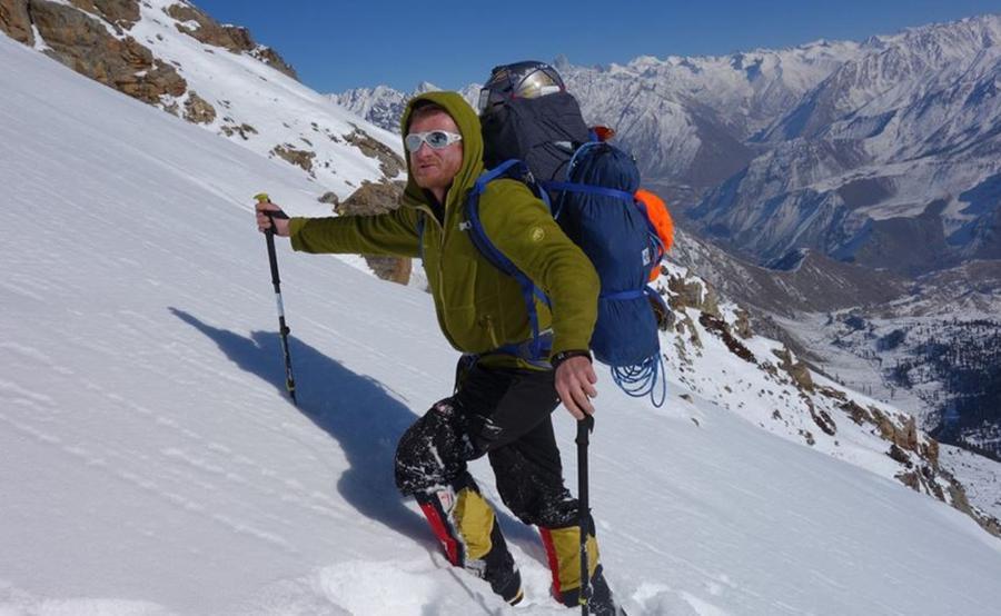 Mackiewicz podczas wspinaczki