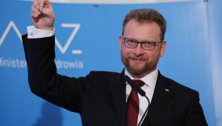 Minister zdrowia Łukasz Szumowski podczas konferencji prasowej po spotkaniu z rezydentami