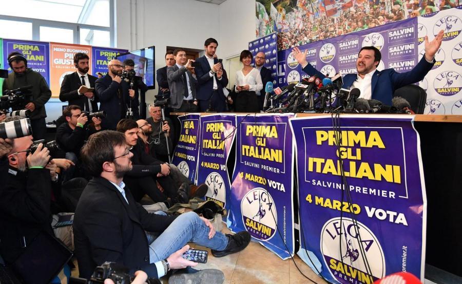 Przywódca prawicowej Ligi Północnej Matteo Salvini