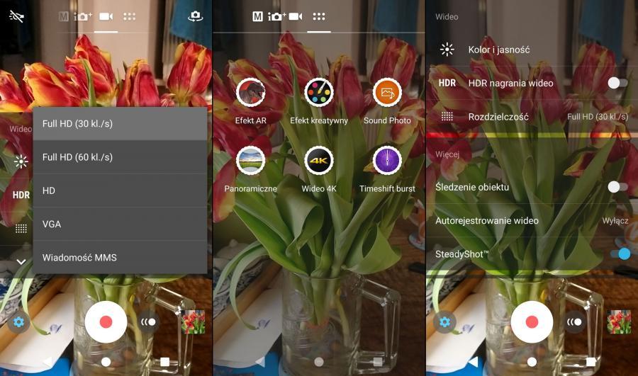 Sony Xperia XA2 - aplikacja aparatu