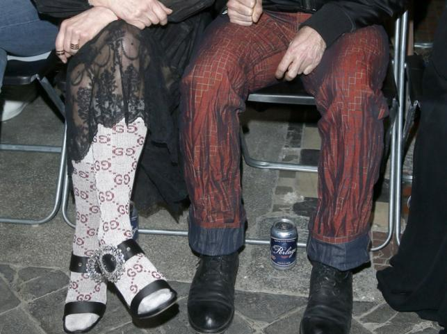 Nogi Moniki Olejnik i Tomasza Ziółkowskiego