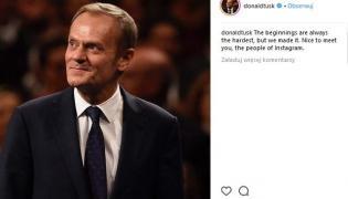 Donald Tusk na Instagramie