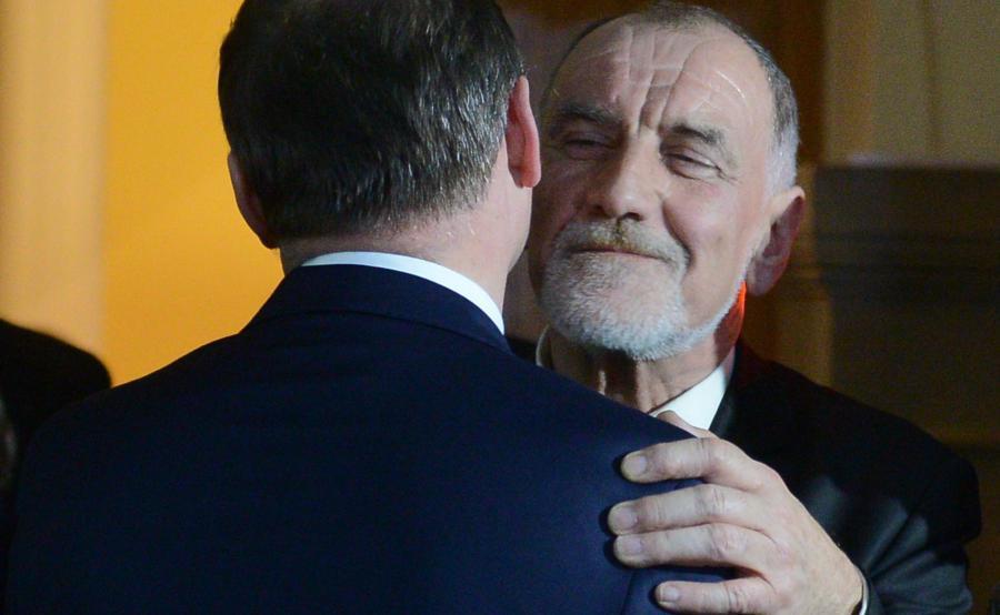 Prof. Jan Duda i prezydent Andrzej Duda