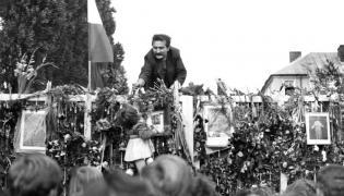 Lech Wałęsa podczas strajku w Stoczni Gdańskiej