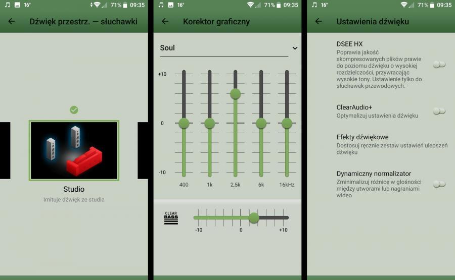 Sony Xperia XZ2 - ustawienia dźwięku