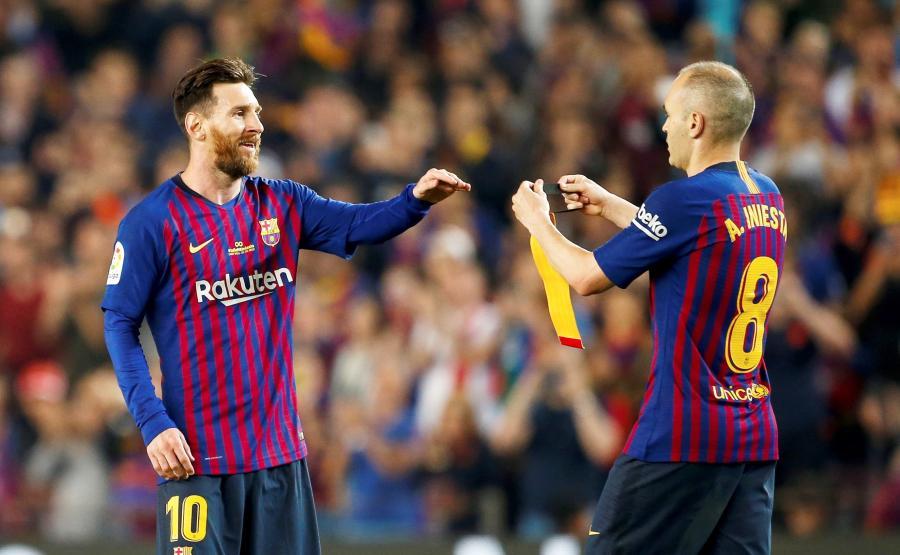 Andres Iniesta i Lionel Messi