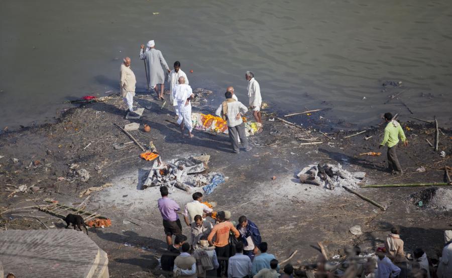 Ceremonia pogrzebowa w Indiach