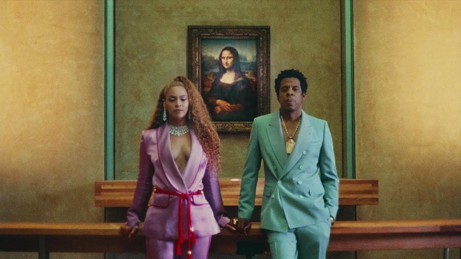 Jay-Z oraz Beyonce w Luwrze. Kadr z klipu \