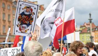 Obywatelskie Zgromadzenie Narodowe - manifestacja w obronier demokracji