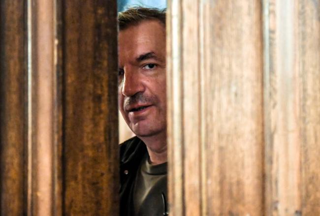 Władysław Pasikowski na planie filmu \