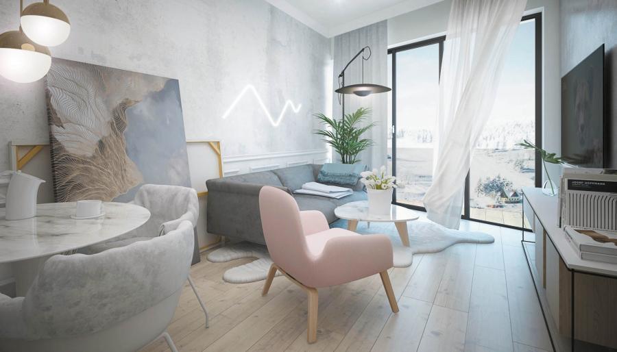 Apartamenty sprzedawane są pod klucz z wyposażeniem w najwyższym standardzie