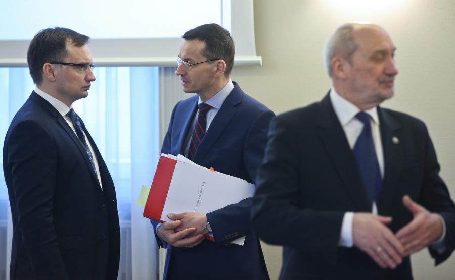 Zbigniew Ziobro, Mateusz Morawiecki i Antoni Macierewicz