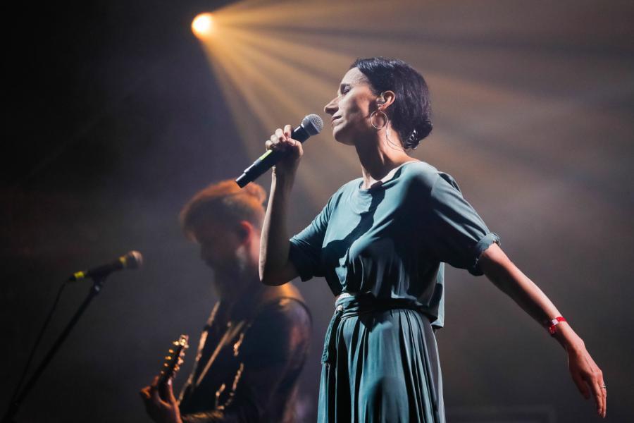 Renata Przemyk na koncercie Męskie Granie 2018 w Żywcu fot. D.Kramski