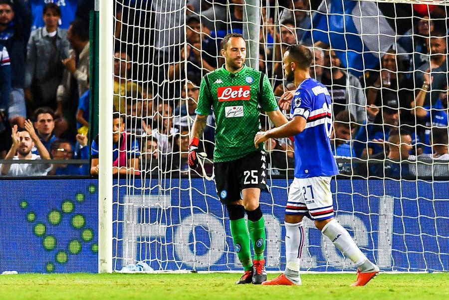 Fabio Quagliarella (w niebieskiej koszulce)