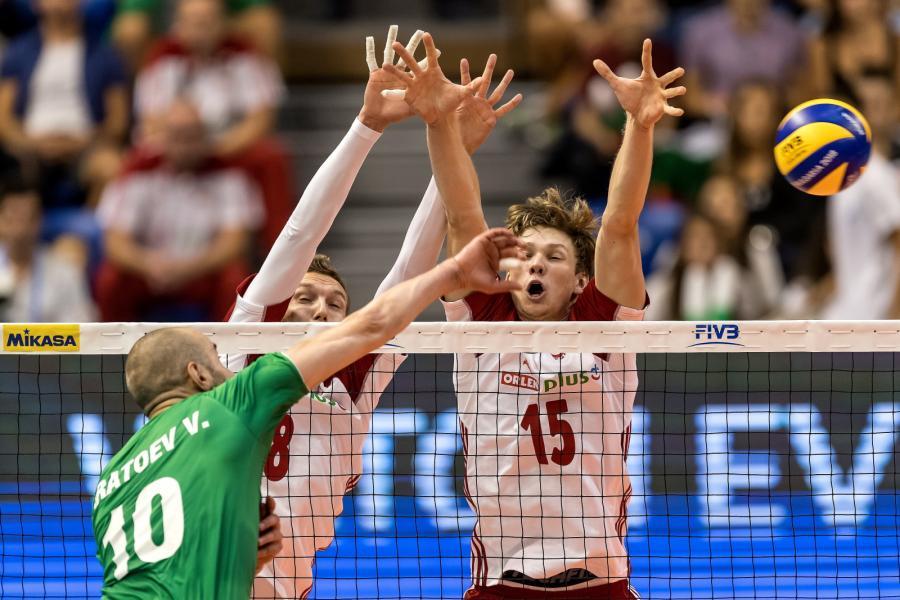 Damian Schulz (C) i Jakub Kochanowski (P) oraz Walentin Bratojew (L)