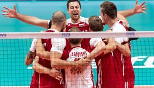 Radość polskich siatkarzy w meczu grupy J mistrzostw świata z Włochami
