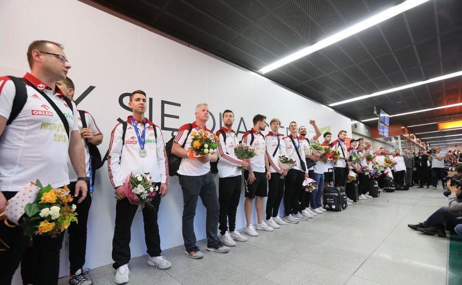 Mistrzowie świata na lotnisku