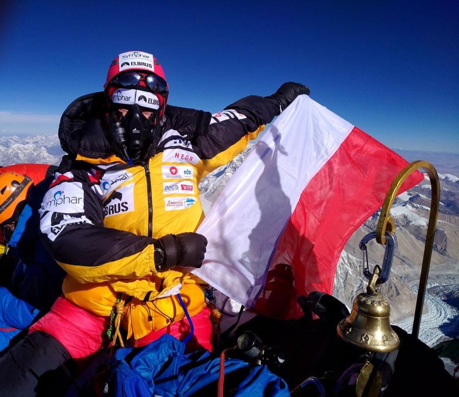 Miłka Raulin na szczycie Mount Everest