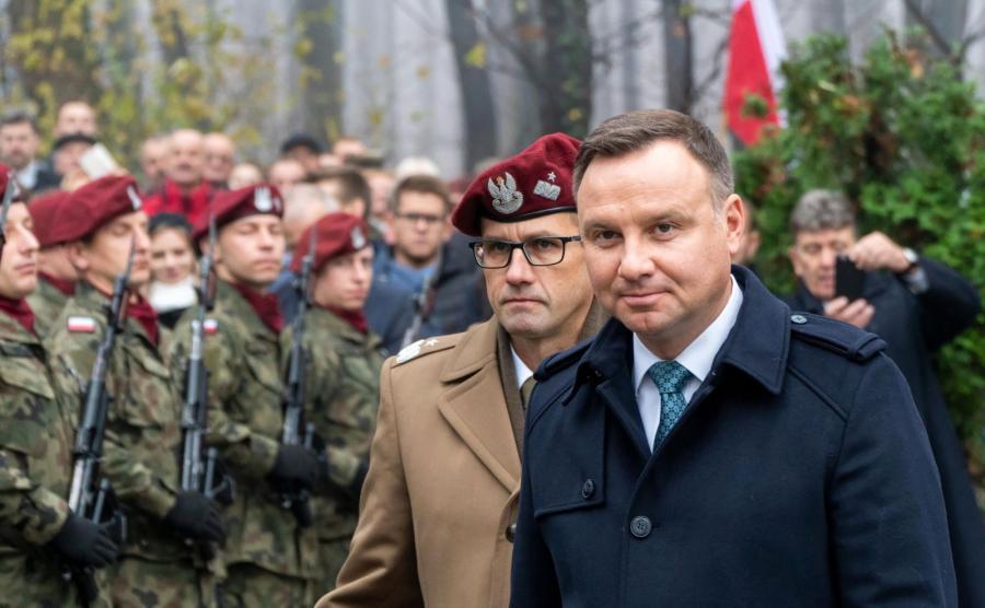 Prezydent Andrzej Duda w Łowczówku