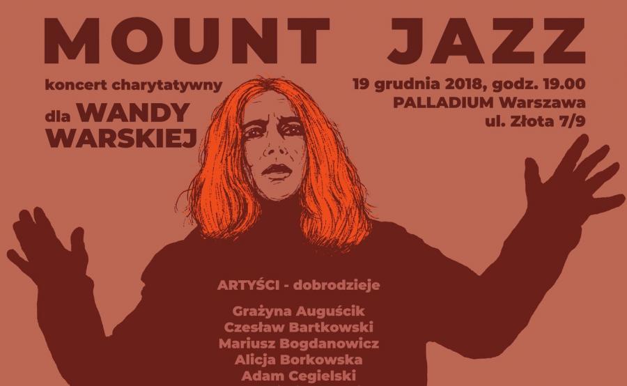 plakat promujący koncert MOUNT JAZZ autorstwa Andrzeja Pągowskiego