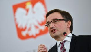 Minister sprawiedliwości i prokurator generalny Zbigniew Ziobro podczas konferencji prasowej w Ministerstwie Sprawiedliwości w Warszawie,