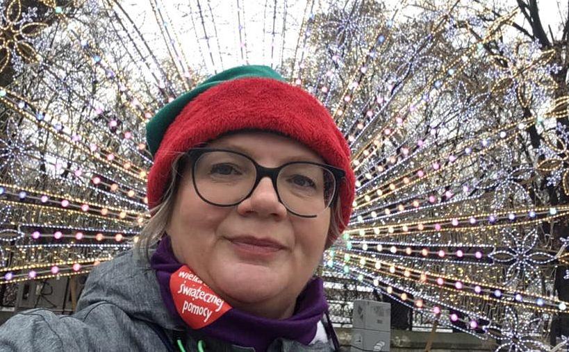 Dorota Zawadzka jako wolontariuszka WOŚP