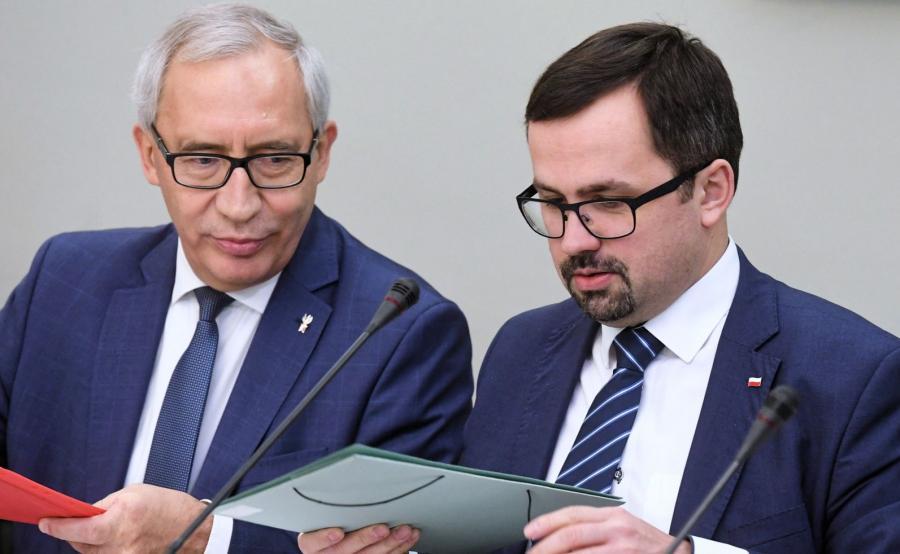 Kazimierz Smoliński (L) i Marcin Horała