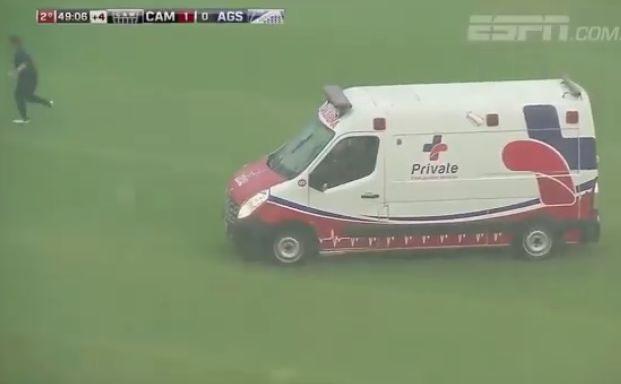 Piorun trafił w piłkarza
