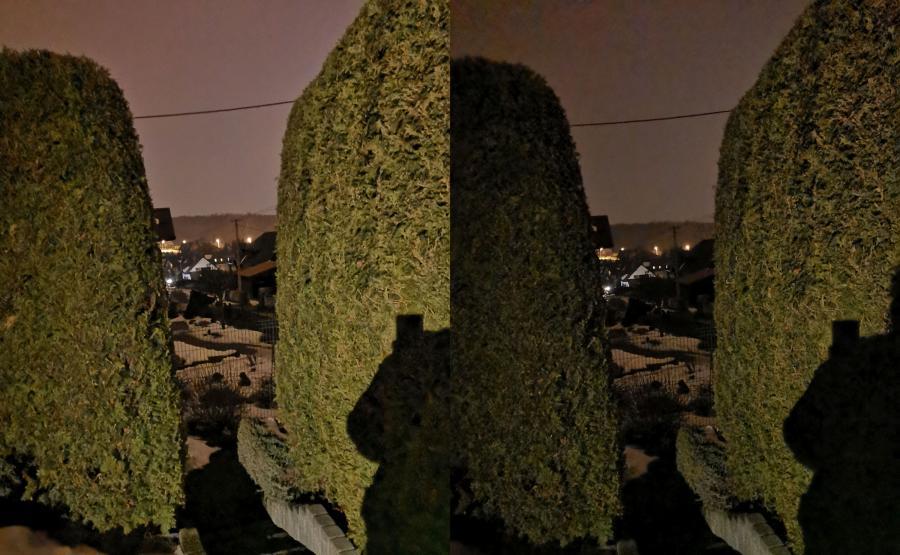 Zdjęcia wykonane Huaweiem Mate 20 - tryb nocny i tryb zwykły