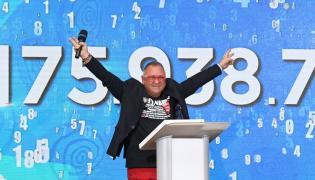 Prezes zarządu Fundacji Wielkiej Orkiestry Świątecznej Pomocy Jerzy Owsiak