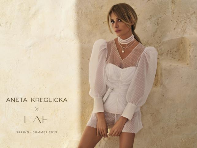 Aneta Kręglicka w kampanii marki L'AF wiosna/lato 2019