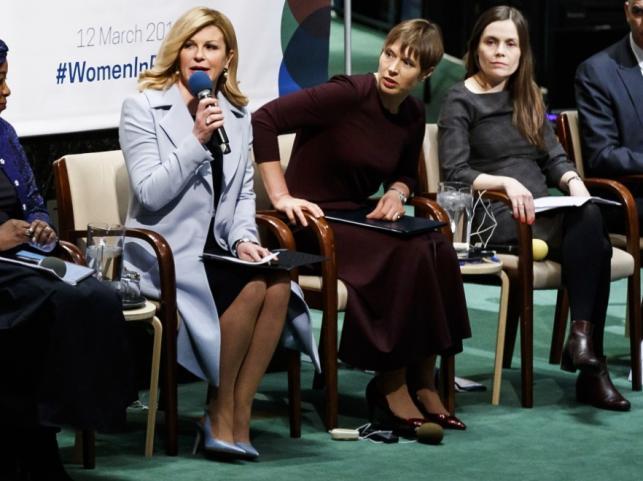 Kersti Kaljulaid i Kolinda Grabar-Kitarovic