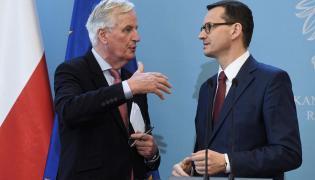 Michel Barnier i premier Mateusz Morawiecki